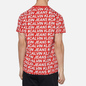 Мужская футболка Calvin Klein Jeans Logo All Over Print Red Exploded Hashtag фото - 3