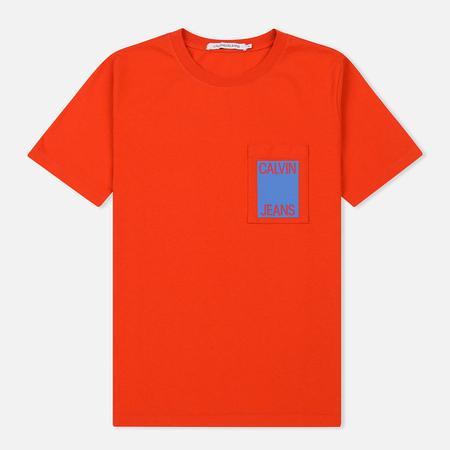 Мужская футболка Calvin Klein Jeans Logo Print Pumpkin Red