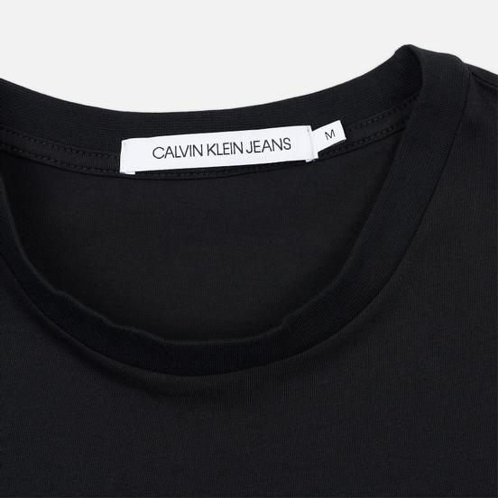Мужская футболка Calvin Klein Jeans Monogram Logo Slim Black/Racing Red