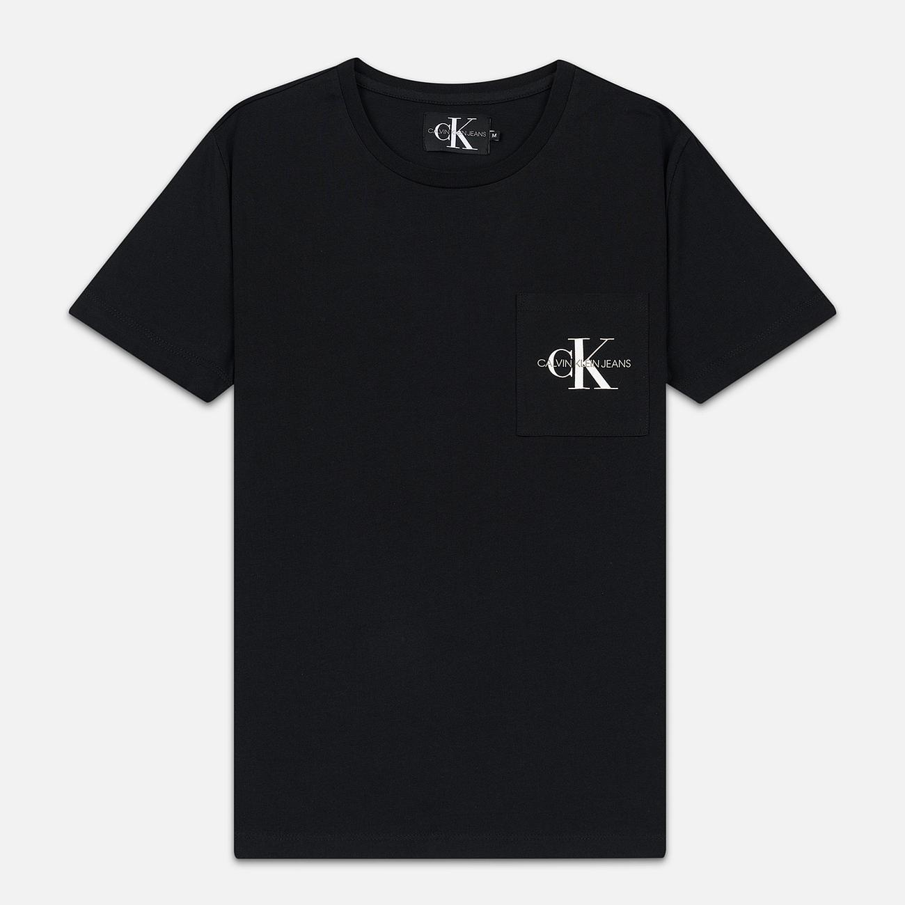 Мужская футболка Calvin Klein Jeans Monogram Pocket Black
