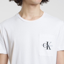 Мужская футболка Calvin Klein Jeans Monogram Pocket Bright White фото- 2