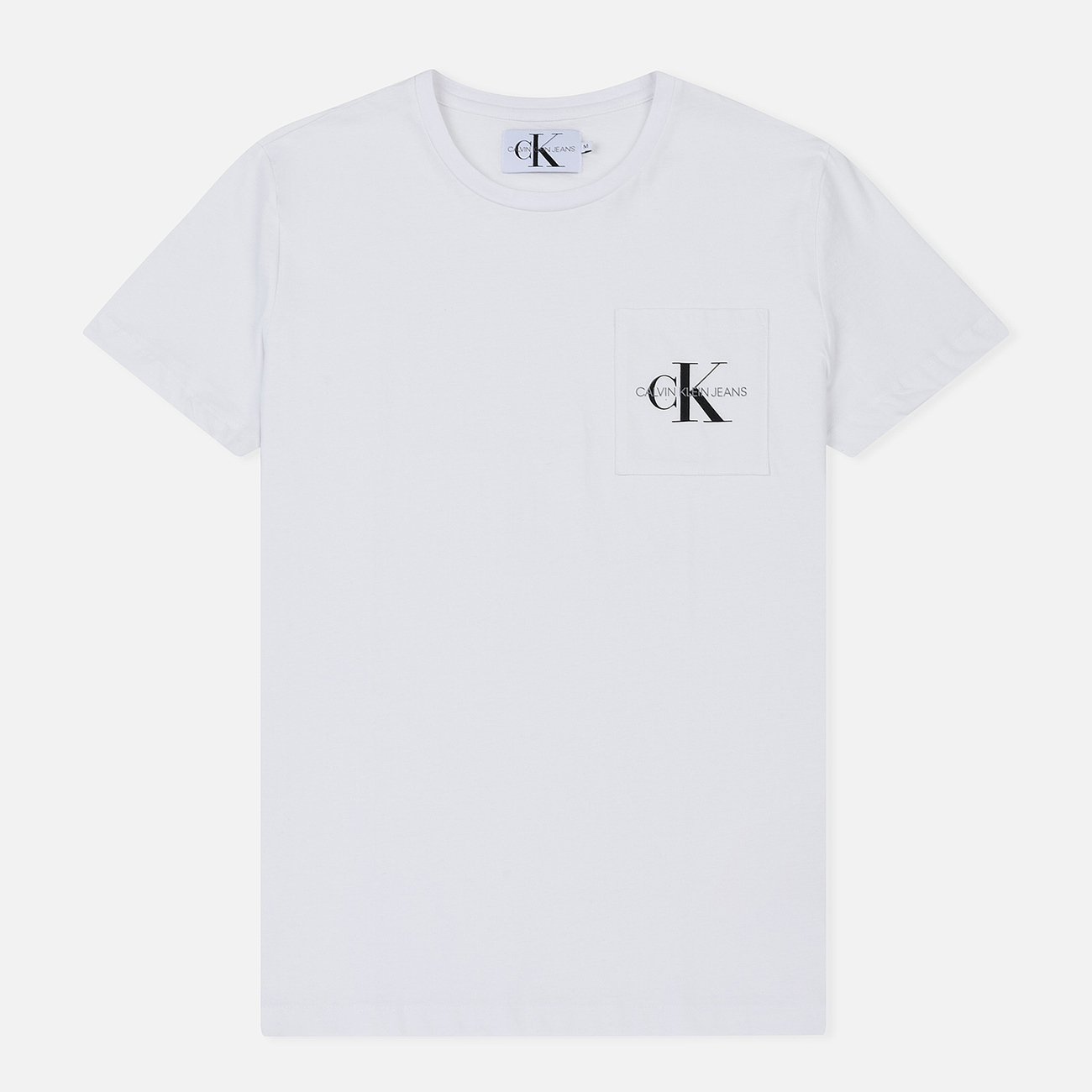 Мужская футболка Calvin Klein Jeans Monogram Pocket Bright White