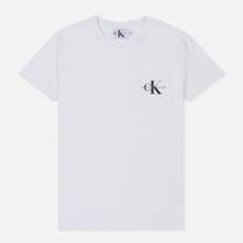 Мужская футболка Calvin Klein Jeans Monogram Pocket Bright White фото- 0