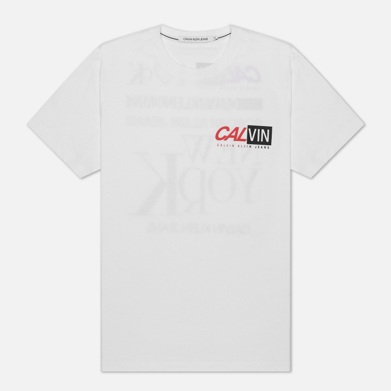 Мужская футболка Calvin Klein Jeans Multiple Logo Bright White