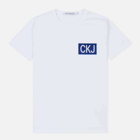 Мужская футболка Calvin Klein Jeans Slim Fit Logo White/Surf The Web