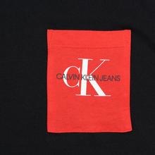 Мужская футболка Calvin Klein Jeans Slim Pocket Logo Black/Racing Red фото- 2