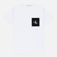 Мужская футболка Calvin Klein Jeans Slim Pocket Logo Bright White/Black фото- 0