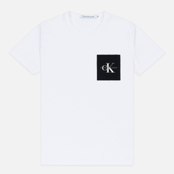 Мужская футболка Calvin Klein Jeans Slim Pocket Logo Bright White/Black