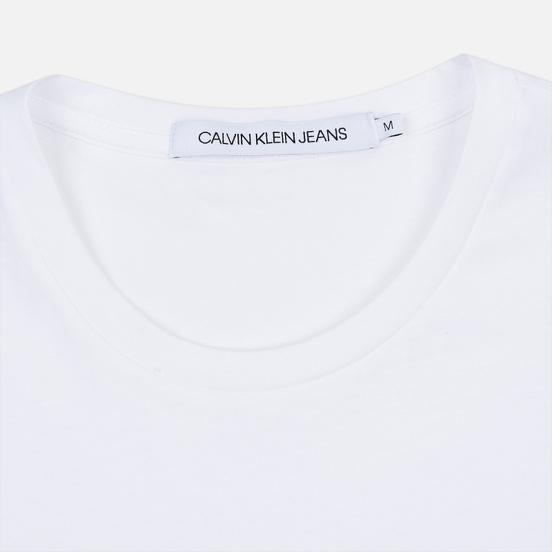 Мужская футболка Calvin Klein Jeans Slim Pocket Logo Bright White/Black