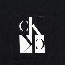Мужская футболка Calvin Klein Jeans Slim Pocket Mirrored Monogram Logo Black/White фото- 2