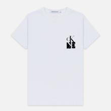 Мужская футболка Calvin Klein Jeans Slim Pocket Mirrored Monogram Logo Bright White/Black фото- 0
