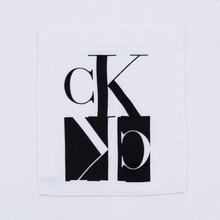 Мужская футболка Calvin Klein Jeans Slim Pocket Mirrored Monogram Logo Bright White/Black фото- 2
