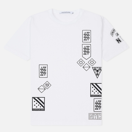 Мужская футболка Calvin Klein Jeans Stampe Print Regular Bright White