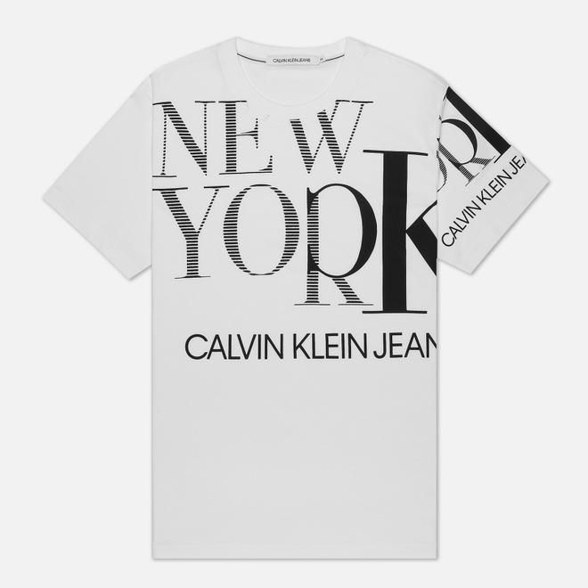 Мужская футболка Calvin Klein Jeans Upscaled NY Bright White