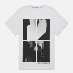 Мужская футболка Calvin Klein Jeans Upscaled Ny Photo Print Bright White