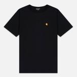 Carhartt WIP Chase Men's T-shirt Black/Gold photo- 0
