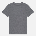 Carhartt WIP Chase Dark Men's T-shirt Grey Heather/Gold photo- 0