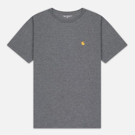 Мужская футболка Carhartt WIP Chase Dark Grey Heather/Gold