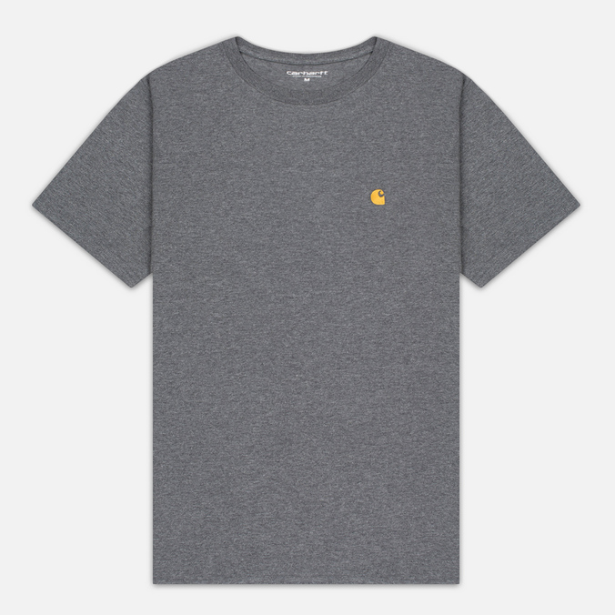 Carhartt WIP Chase Dark Men's T-shirt Grey Heather/Gold