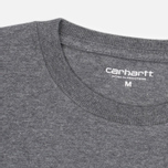 Мужская футболка Carhartt WIP Chase Dark Grey Heather/Gold фото- 1