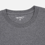 Carhartt WIP Chase Dark Men's T-shirt Grey Heather/Gold photo- 2