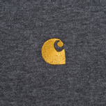 Carhartt WIP Chase Dark Men's T-shirt Grey Heather/Gold photo- 3