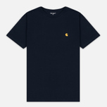 Carhartt WIP Chase Men's T-shirt Navy/Gold photo- 0