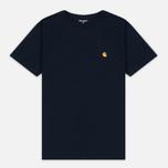 Мужская футболка Carhartt WIP Chase Navy/Gold фото- 0