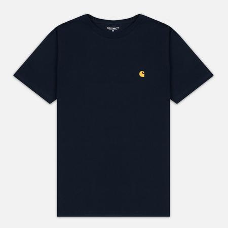 Мужская футболка Carhartt WIP Chase Navy/Gold