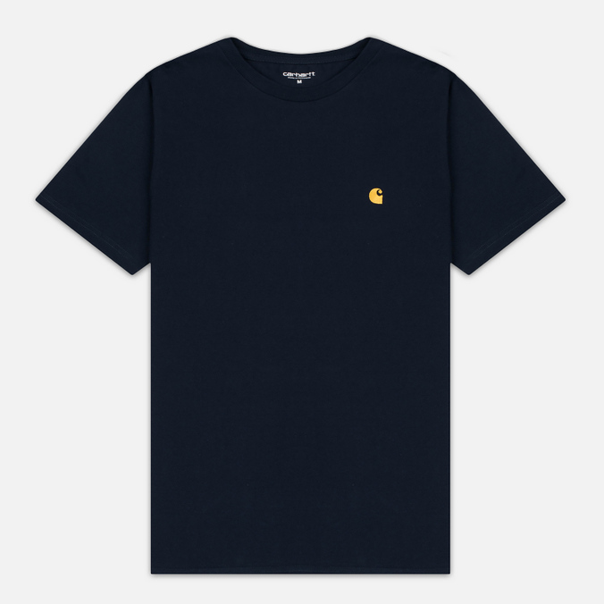 Carhartt WIP Chase Men's T-shirt Navy/Gold