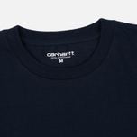 Carhartt WIP Chase Men's T-shirt Navy/Gold photo- 2