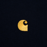 Carhartt WIP Chase Men's T-shirt Navy/Gold photo- 3