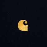 Мужская футболка Carhartt WIP Chase Navy/Gold фото- 3