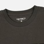 Carhartt WIP College Men's T-shirt Cypress/Black photo- 2