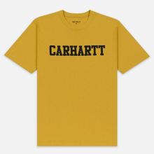 Мужская футболка Carhartt WIP College Graphic Print Colza/Black фото- 0