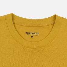 Мужская футболка Carhartt WIP College Graphic Print Colza/Black фото- 1