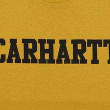 Мужская футболка Carhartt WIP College Graphic Print Colza/Black фото- 2