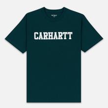 Мужская футболка Carhartt WIP College Graphic Print Dark Fir/White фото- 0