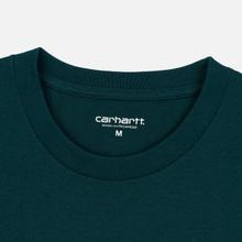 Мужская футболка Carhartt WIP College Graphic Print Dark Fir/White фото- 1