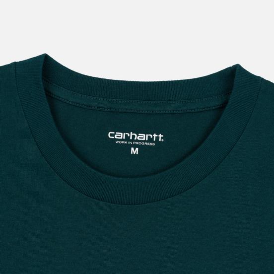Мужская футболка Carhartt WIP College Graphic Print Dark Fir/White