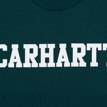 Мужская футболка Carhartt WIP College Graphic Print Dark Fir/White фото- 2