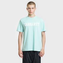 Мужская футболка Carhartt WIP College Graphic Print Light Yucca/White фото- 1