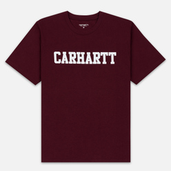 Мужская футболка Carhartt WIP College Graphic Print Merlot/White
