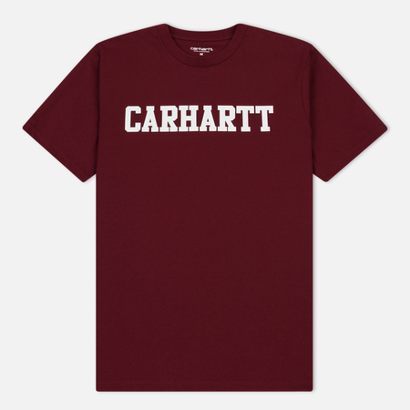 Мужская футболка Carhartt WIP College Graphic Print Mulberry/White