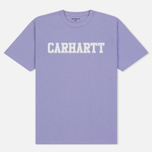 Мужская футболка Carhartt WIP College Graphic Print Soft Lavender/White фото- 0
