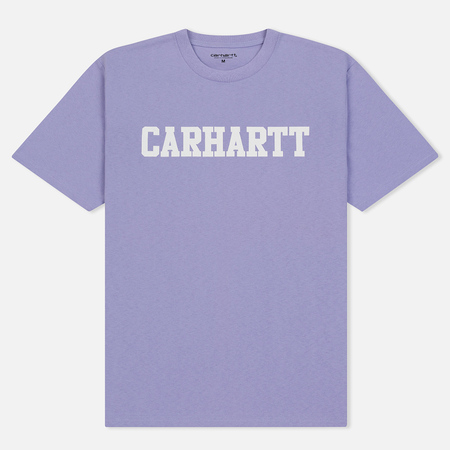 Мужская футболка Carhartt WIP College Graphic Print Soft Lavender/White