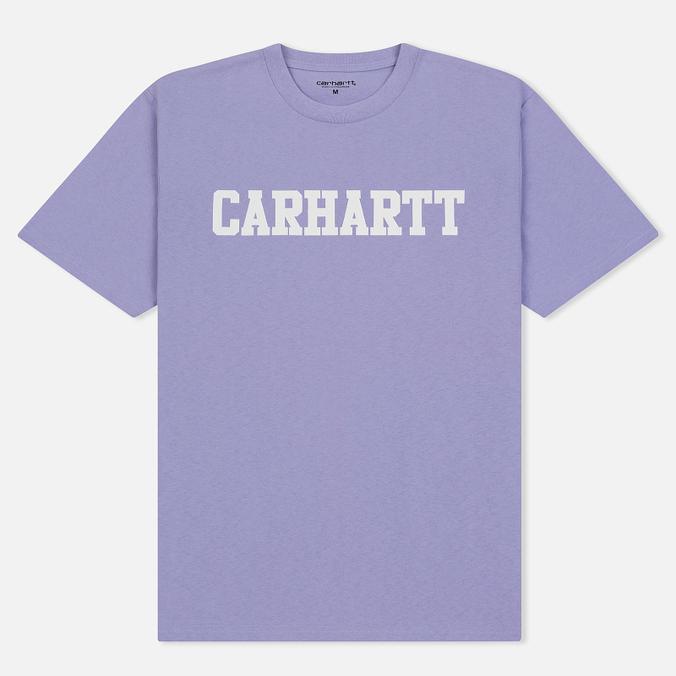 Мужская футболка Carhartt WIP College Graphic Print Soft Lavender/White