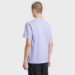 Мужская футболка Carhartt WIP College Graphic Print Soft Lavender/White фото- 2
