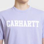 Мужская футболка Carhartt WIP College Graphic Print Soft Lavender/White фото- 3