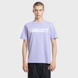 Мужская футболка Carhartt WIP College Graphic Print Soft Lavender/White фото- 1